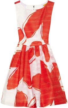 Printed Jacquard Dress - Lyst.  cute with a cardigan over it