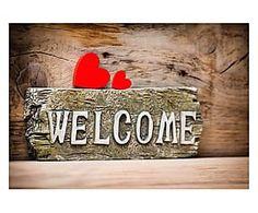 Tappeto con retro antiscivolo Zerbello Welcome - 52x75 cm