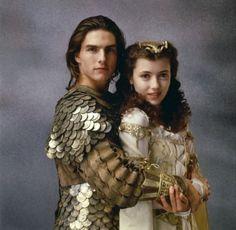 Mia Sara and Tom Cruise in Legend (1985).