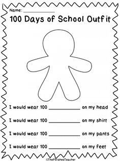 Trail Mix Sorting Sheet Kindergarten 100th Day Of