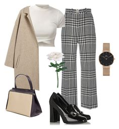 """⚜️"" by saintlaurxnt ❤ liked on Polyvore featuring Zuhair Murad, Gucci and Daniel Wellington"