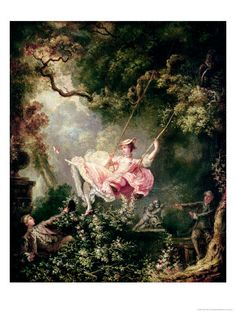 The Swing by Jean-Honoré Fragonard. Giclee print from Art.com.