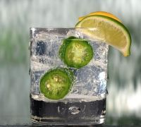 The Gibbons.  Tequila, lime, Topo Chico, and jalapeño.  One of my absolute favorites.