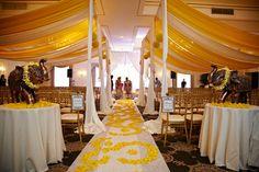 Wedding Decoration. White & Yellow