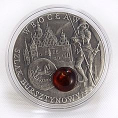 Niue 1 Wroclaw Amber Route series Poland silver coin 2009