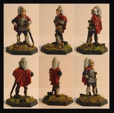 The very first miniature I ever painted. I re-painted it a bit and added some shadows to the cloak. I know that it is a male miniature but I still used it for my female paladin character. It did fit since she was in the disguise of a young man for quite some time during our campaign ;)