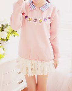 Cute Asian Fashion - Lollimobile.com that cute big sweater with that short flutery skirt