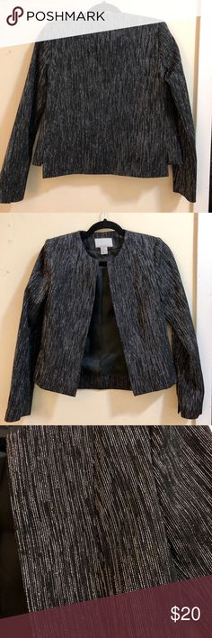 H&M Jacket H&M Jacket! So great for the holidays! Black and silver in a size 4. Fits me a little big. H&M Jackets & Coats Blazers