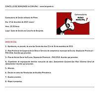 Convocatoria de sesión do Pleno ordinario: Concello Bergondo
