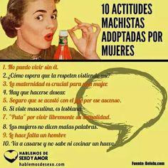 10 actitudes machistas  adoptadas.