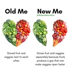 Green Living Tips, Reduce Waste, Zero Waste, Food Facts, New Me, Fruits And Veggies, Cooking Tips, Food Tips, Meal Prep
