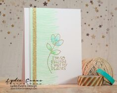 Card by PS GDT Lydia Evans using PS Positive Strokes Two, Twiggy Florets