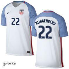 16/17 Meghan Klingenberg Youth Home Jersey #22 USA Soccer