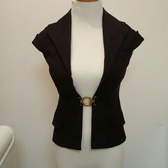 Vest by Marciano Black short sleeve vest with gold belt connector Marciano Jackets & Coats Vests