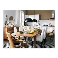 STORNÄS Mesa extensible - color claro o negro - IKEA