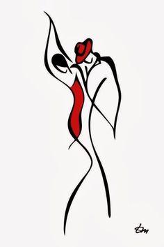 2011 Tatyana Markovtsev Pen and Ink Drawing Art Sketches, Art Drawings, Drawing Faces, Dancing Drawings, Minimal Art, Dance Art, Simple Lines, Painting & Drawing, Drawing Tips