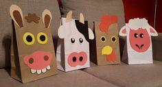 bolsas de sorpresitas - animales de granja