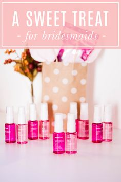 Treat your bridesmaids to a gift as sweet as they are! Introducing the new limited-edition† Mary Kay At Play® Little Delights™ Fragrance Mists in Pomegranate Tart™ and Pink Macaroon™, perfectly packaged together for a delicious gift!