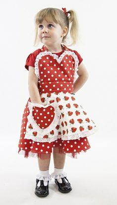 Little Miss SundayGirl 50's inspired 'So Berry Sweet' children's apron. www.thesundaygirlcompany.co.uk