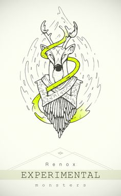 Experimental monsters by Sangui, via Behance
