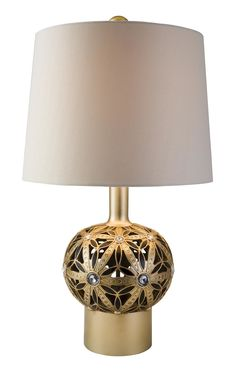 """Autumn Sunflower 26.5"""" H Table Lamp with Drum Shade"""