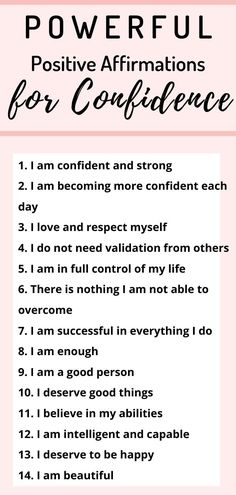 23 positive affirmations for confidence - danxiety