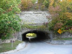Pammel Park near Winterset in Madison County, home to Iowa's only highway tunnel