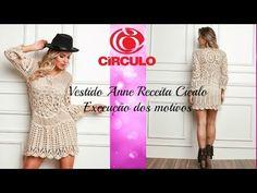 Vestido Anne Receita Círculo Produtos: Confecção de motivos - YouTube