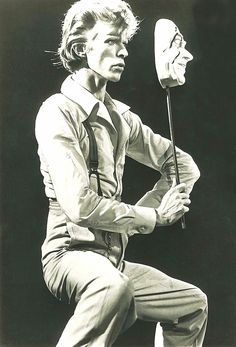 """David Bowie, 1974. """"The truth is of course is that there is no journey. We are arriving and departing all at the same time."""" ― Bowie. #DavidBowie #Music #Rock #Quotes #Art"""