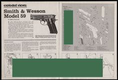 1980 SMITH & WESSON Model 59 Pistol Exploded View Parts List Assembly Article #Colt