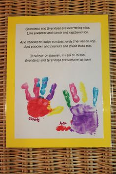 Cathy and Kiddos: Grandparents Day Crafts