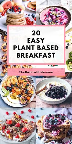 20 Easy Vegan Breakfast Recipes That Aren't Boring Cereal Looking easy plant based recipes for breakfast? Check out these 20 Easy Plant Based Breakfast Ideas That are Super Delicious. Plant Based Eating and Plant Based Diet via Plant Based Diet Meals, Plant Based Meal Planning, Plant Based Whole Foods, Plant Based Eating, Vegan Recipes Plant Based, Raw Diet Recipes, Vegan Recipes For Beginners, Healthy Recipes For Two, Plant Based Dinner Recipes