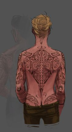 Cecil Palmer with tattoos