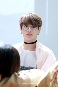 Jungkook © STICK WITH YOU | Do not edit || those circular glasses always looks good on him and the other members. Even though I'm reminded of young Harry Potter every time