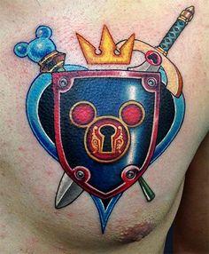 Kingdom Hearts Tattoo, Kingdom Hearts Funny, Kingdom Hearts Games, Gamer Tattoos, Disney Tattoos, Body Art Tattoos, Sleeve Tattoos, Tatoos, Beautiful Tattoos