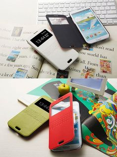 VOIA WINDOW FLIP COVER CASE - various colors - for SAMSUNG GALAXY NOTE2 -by imonstore
