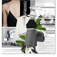 How To Wear Backpack for Work Outfit Idea 2017 - Fashion Trends Ready To Wear For Plus Size, Curvy Women Over 20, 30, 40, 50