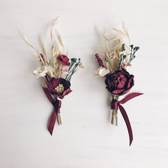 A personal favorite from my Etsy shop https://www.etsy.com/listing/544959217/burgundy-floral-boutonniere-button-hole