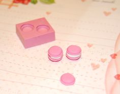 Macaron Mold/Mould for Resin, Polymer clay & Air dry Clay.. $5.50, via Etsy.