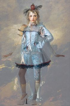 """Deborah Oropallo's Blue Girl from the """"de Guise"""" series.I missed this one when it was on sell a couple of years ago. Female Images, Figure Painting, Love Art, Harajuku, Culture, Costumes, Inspiration, Lens, Portraits"""