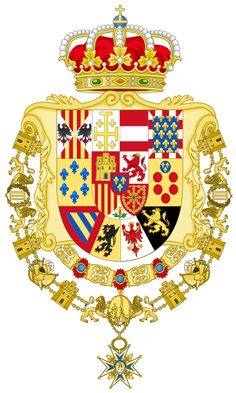 Greater Royal Coat of Arms of Spain (1931) Version with Golden Fleece and Charles III Orders