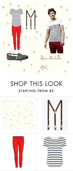"""""""louis Tomlinson Style"""" by niallersprincess4321 on Polyvore featuring Brooks Brothers, J Brand, Oasis and TOMS"""