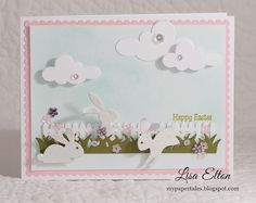 My Paper Tales: cQc #284 & NBUS #4 ~ Happy Easter! using Impression Obsession bunny dies.