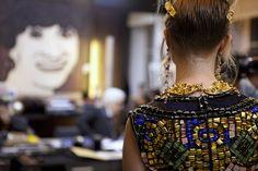 Amazing mosaic bead work, Chanel byzance.