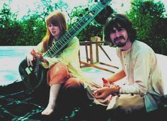 Jane Asher and George Harrison, India, 1968