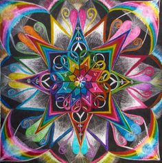 Mandala - love the colours (relating to chakras), symbols and geometric shapes (sacred geometry). I could meditate on this!
