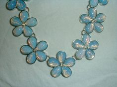 coldwater creek opal glass statement necklace