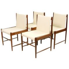 """Set of Four """"Cantu"""" Dining Chairs by Sergio Rodrigues"""