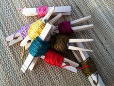 embroidery floss bobbins!