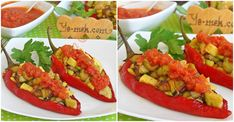 How to cook Red Pepper Stuffed With Vegetables Recipe? You can easily make Red Pepper Stuffed With Vegetables Recipe. We take the photos of each step of prepera Vegan Gluten Free, Vegan Vegetarian, Fried Vegetables, Roasted Red Peppers, Summer Squash, Tomato Sauce, Bruschetta, Vegetable Recipes, Food Processor Recipes
